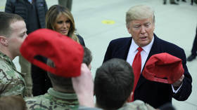 Trump meets US troops in Germany after surprise visit to Iraq