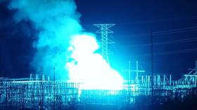 f2d1a996 Watch up close the transformer blaze turn the New York skyline blue (VIDEOS)