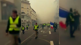 Tear gas fired as Yellow Vests and police clash in French city of Rouen (VIDEOS)