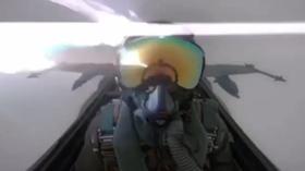 Lightning hits F/A-18 fighter jet, leaves pilot shaken in rare cockpit VIDEO