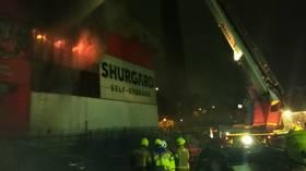 100+ firefighters battle blaze in London suburb