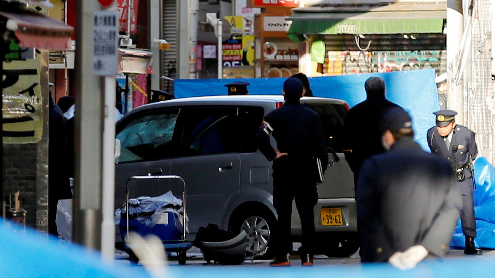 8 injured, 1 critically, as car plows into revelers in downtown Tokyo