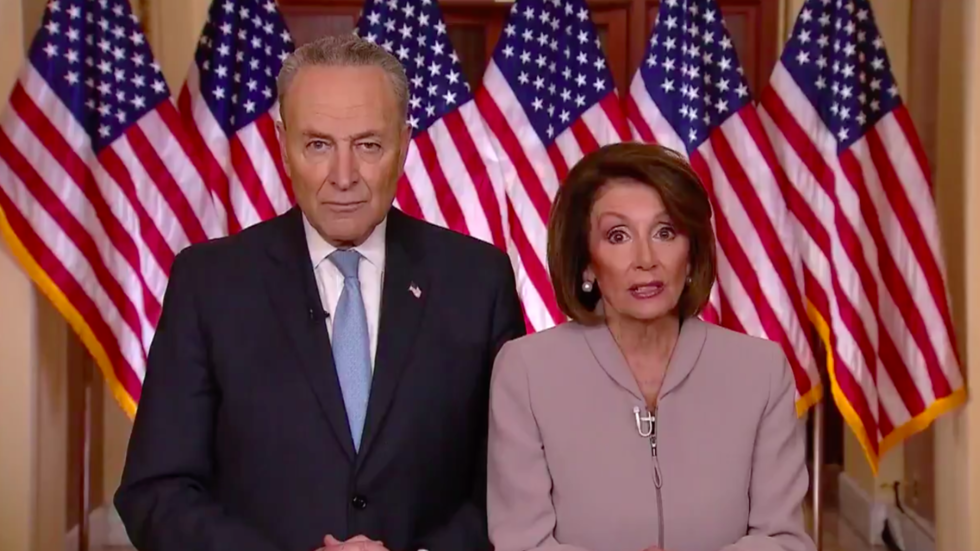 Angry Parents A Paltry Podium Pelosi Schumer Make Perfect Meme
