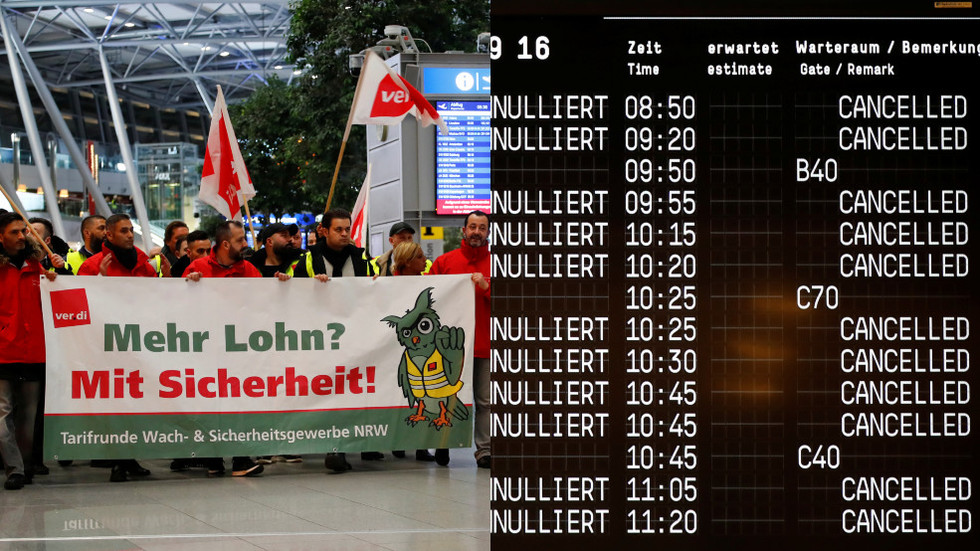 Thousands stranded as security staff strike hits 3 major German airports