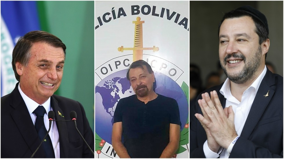 Bolsonaro's 'little gift' to Salvini: Italy's most-wanted fugitive caught after decades on the run
