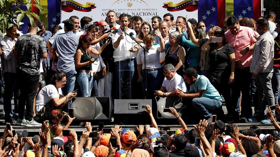 Pence backs opposition politician claiming to be 'interim president' of Venezuela