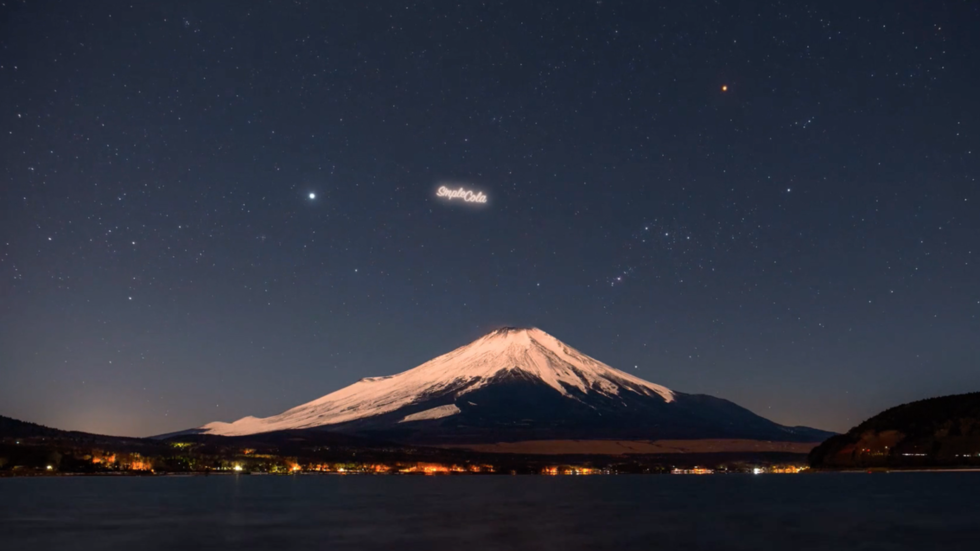 Goodbye darkness, my old friend: Russian startup wants to place luminous ads in low-Earth orbit