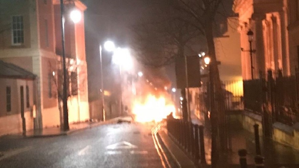 Car blast in front of N. Ireland courthouse, terrorism suspected