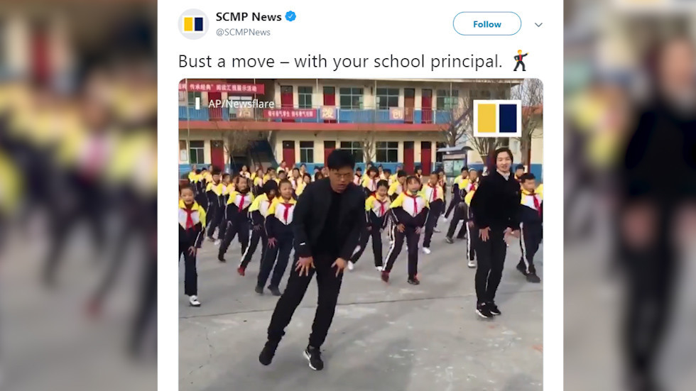Dancing school principal breaks rules and becomes Chinese viral sensation