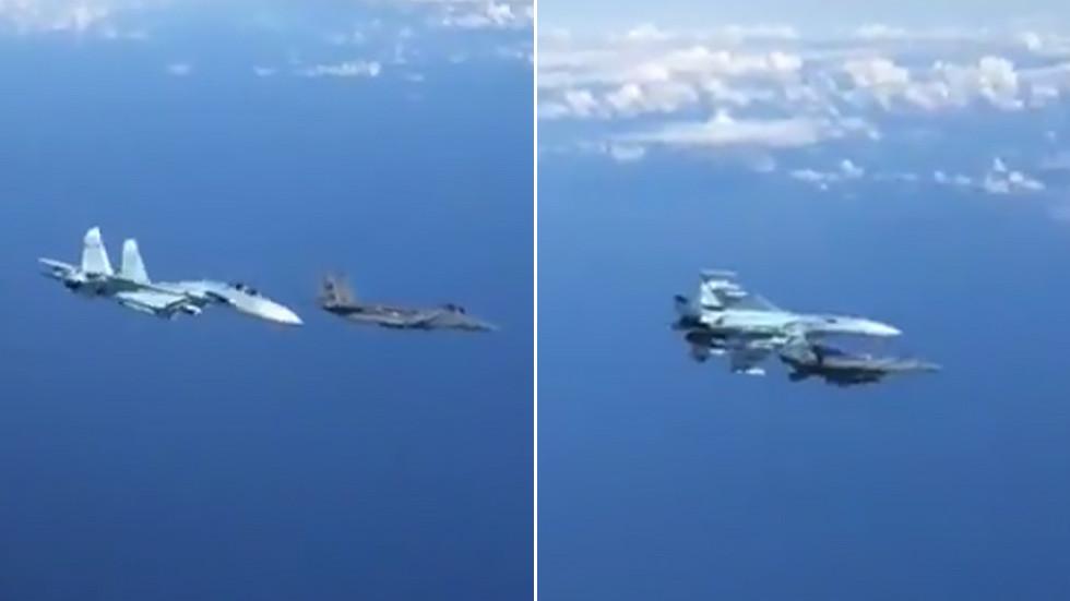 WATCH Russian Su-27 fend off F-15 in a daring maneuver mid-air