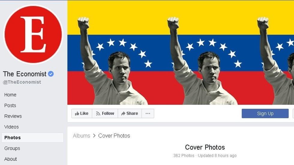 Je suis Guaido? Economist endorses Venezuela coup leader with Facebook profile change