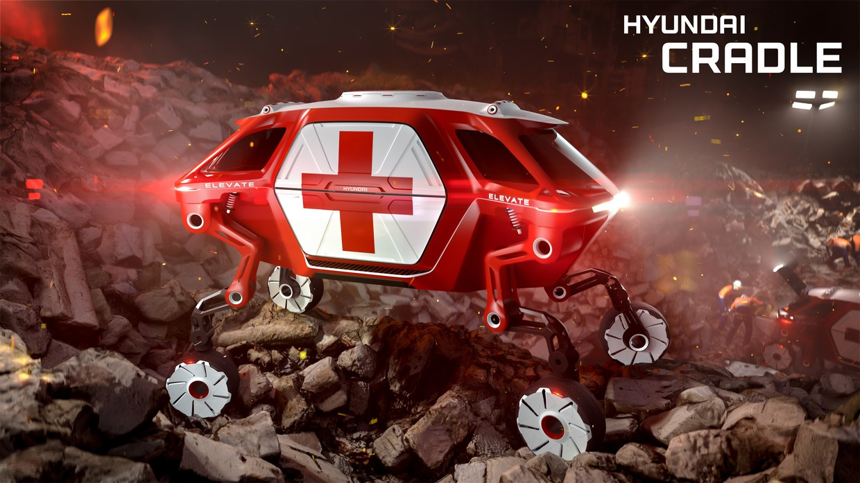 Hyundai's 'Elevate' concept is a four-legged first responder