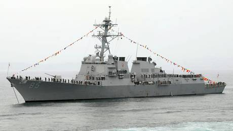 US destroyer sails through disputed South China Sea as trade talks kick off in Beijing