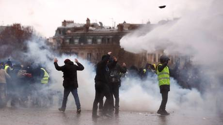 Truth or Not? Police employ tear gas & water cannons as Yellow Vest protests enter 9th week (VIDEO)