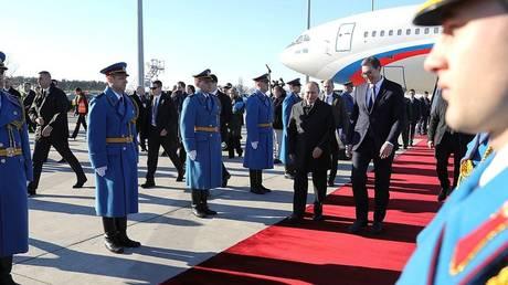 Russian President Vladimir Putin and Serbian President Aleksandar Vucic, Belgrade © kremlin.ru