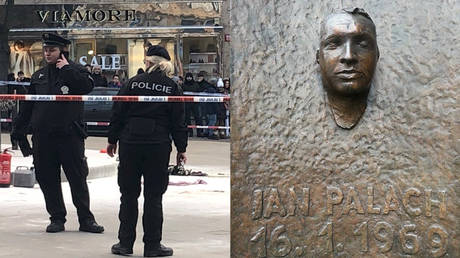 Man sets himself on fire at Prague square, 50 years after student died in anti-Soviet protest