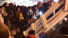 Bridge collapse in Moscow's Gorky Park sends New Year revelers tumbling down (VIDEO)