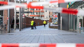 Police cordon off Berlin Square in Bottrop, Germany