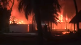Giant inferno devours luxury 'rustic-chic' Maldives resort (VIDEOS)