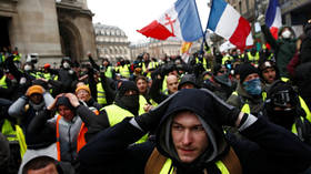 File Photo: Yellow Vest protesters gather in Paris, December 15, 2018 © Reuters / Christian Hartmann