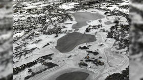 This 'aerial' photo of frozen lakes is not what it seems