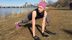 Dancer who lost leg in Boston Marathon bombing hit by car while training for ANOTHER marathon