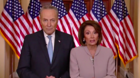 Angry parents & a paltry podium: Pelosi & Schumer make perfect meme fodder with joint address