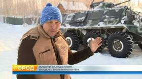 Armored vehicle joy rides ire local skiers in Kazan (VIDEO)