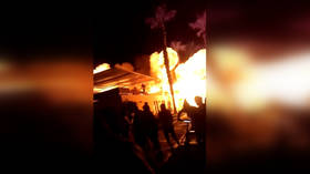 HUGE blast in Peru beach club caught on VIDEO
