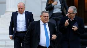 Greek defense minister resigns, PM Tsipras calls vote of confidence in govt