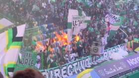 Heated derby! - Sporting fans accidentally set fire to own stand during Porto match (VIDEO)