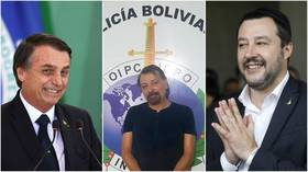 (Left) Brazilian President Jair Bolsonaro © AFP / Evaristo SA ; (centre) captured left-wing fugitive Cesare Battisti  © AFP / Bolivian police handout ; (right) Italian Interior Minister Matteo Salvini © AFP / Menahem Kahana
