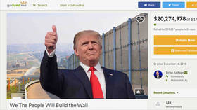 Border wall GoFundMe raises $20mn out of 1-billion goal, campaigners pledge to build wall themselves