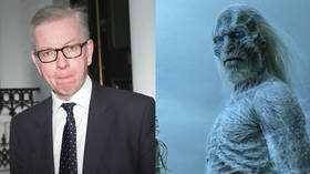 UK Environment Secretary Michael Gove has made some dire presictions. © Left: Reuters/Simon Dawnes, right: HBO