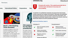 'Perfect accuracy': WikiLeaks hits back at 'neocon' app NewsGuard, which labeled it untrustworthy