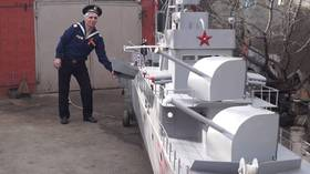 Need a bigger boat: Navy veteran builds massive replica of vessel he served on (VIDEO)