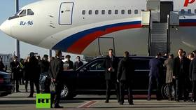 Putin takes Serbian president for a ride in his Russian-made Aurus limousine (VIDEO)