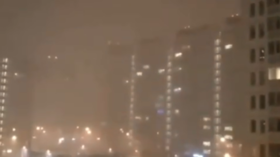 'This is hell like': Rare winter thunderstorm hits Moscow