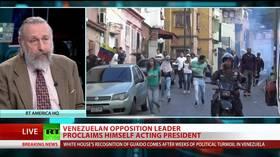 US backs rebel president in Venezuela
