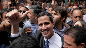 Venezuela's opposition leader Juan Guaido seen in Caracas, Venezuela on January 25, 2019.