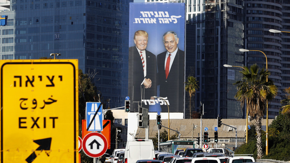 'Really disgusting': Twitter unimpressed as Netanyahu uses Trump in election posters