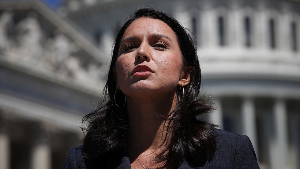Tulsi Gabbard presents bill to stop Trump from pulling out ...