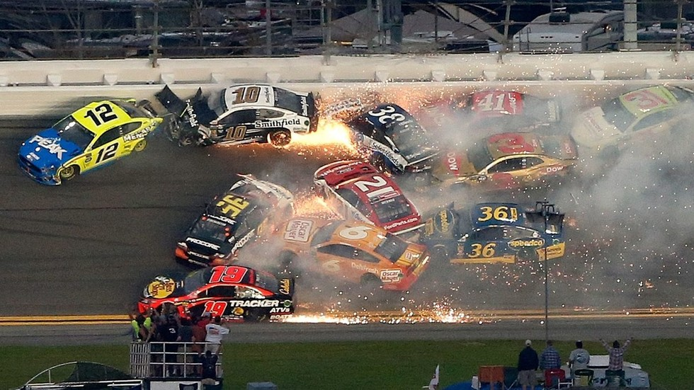 WATCH: Insane NASCAR crash triggers carnage at Daytona 500 ...