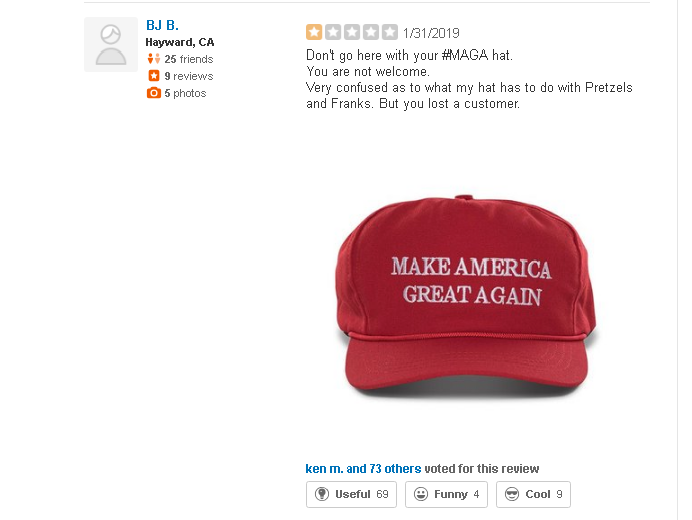 San Francisco Eatery Bans MAGA Hat-Wearing Customers