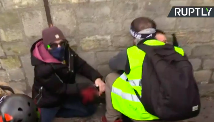 Protester loses hand in Paris clashes