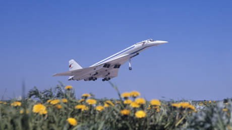 FILE PHOTO: Supersonic Tu-144 passenger jet © Sputnik / Lev Polikashin