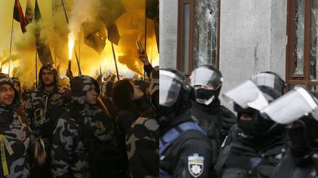 Jail time for Ukrainian officer who 'misused' Nazi collaborator's name referring to far-right mob