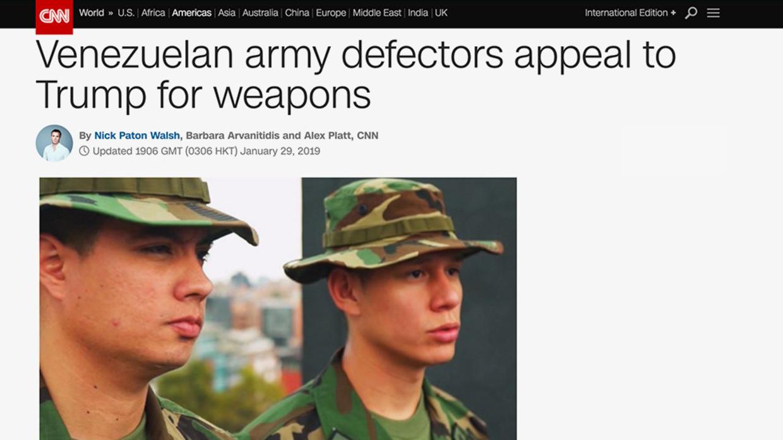 CNN's 'Venezuelan army defectors' not in army, not defectors