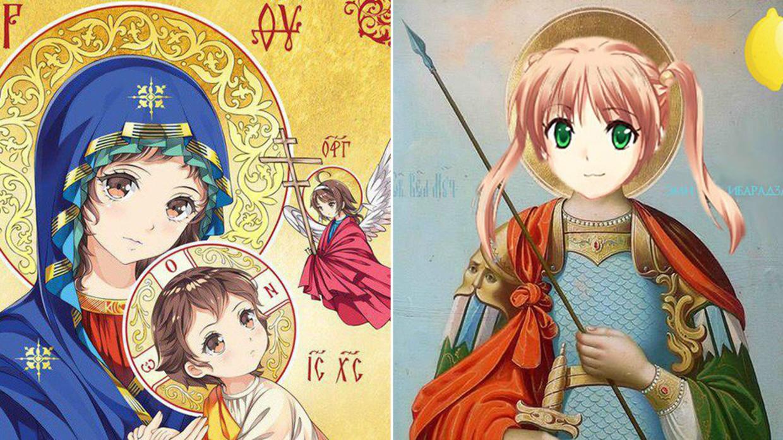 Anime God Porn poking fun at god? anime-style religious icons disturb