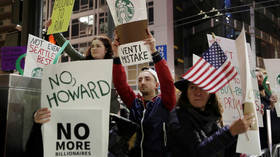 Wake up & smell the coffee! Starbucks CEO gets schooled in US politics 101